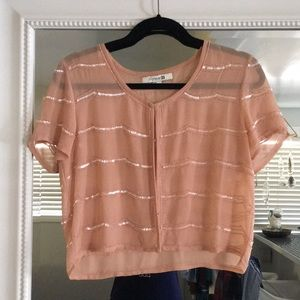 Tops - Scallop beaded crop cover